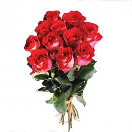 Букет 11 роз (пример-розы Игуана)  40 см