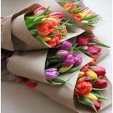 Букет в крафте №2 (11 тюльпанов)