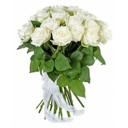 Букет 21 роза (пример-розы Вайт Наоми)