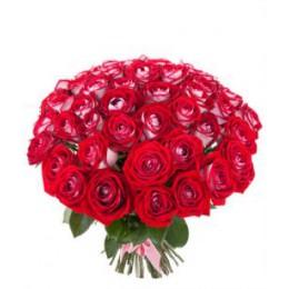 Букет 55 роз (пример-розы Луксор)
