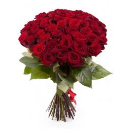 Букет 65 роз (пример-розы Ред Наоми)
