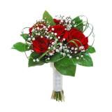 Букет невесты №1 (розы, зелень, декор)