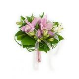 Букет невесты №5 (орхидеи, альстромерии, зелень, декор)